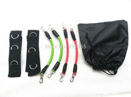 Wholesale Tube Band Resistance Set - Wholesale-Kinetic Speed Agility Training Leg Running Resistance Bands Exercise Tubes Rope Set Workout 4 Tubes