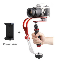 Wholesale Video Camera Boom - Freeshipping Alloy Aluminum Mini Handheld Digital Camera Stabilizer Video Steadicam Mobile DSLR 5DII Motion DV Steadycam + Smartphone Clamp