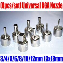 "Wholesale Nozzles Bga - Free shipping ""8pcs per set"" Universal BGA Nozzle SAIKE ATTEN 852D and 850 909D Hot air soldering station hot air station Dedicated"