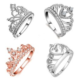 Wholesale Brass Items - MIXED items 7PCS FINGER RINGS European style jewelry series crown ring ring female fashion personality ring anillo boda