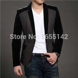 Wholesale Cheap Men S Wedding Suits - Wholesale-New Blazer Men Latest Coat Designs Suits For Men Wedding Dress Suit Jacket Men Cheap Mens Blazers Blazer Designs Nice Blazer B21