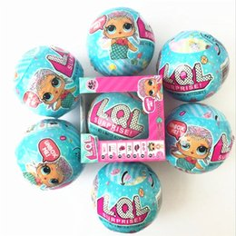 Wholesale Birthday Boy Year - LOL Supprise Doll Unpacking Dolls Dress Changing Up Spray Eggs Dolls Suprise Kids Boy Girls Christmas Birthday Gift