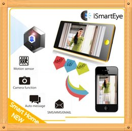 Wholesale Doors Viewers - Free shipping New Arrived !!! iSmartEye GSM Digital Door Viewer SMS MMS Email Photo Shooting Motion Sensor