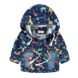 Wholesale Cowboy Clothes For Men - Jacket For Children Printed Cartoon Cowboys Hooded Jackets Denim Jacket For Boys Children's Clothing Autumn