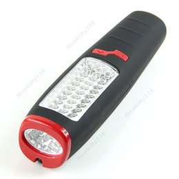 Wholesale Hook Magnet Led Flashlight - 37 LED Flashlight Work light Camping Outdoor Lamp With Built-in Magnet and Hook
