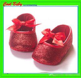 Wholesale Strech Laces - Soft bottom bow walker shoes for baby girl Gold,sliver color strech Fabric spring fall shoes 11-13cm.6Sets lot XRWX056