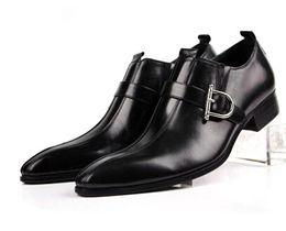 Wholesale Oxford Platform Heels - Hot Sale 2015 Brand Men Dress Shoes Genuine Leather Smart Casual Men Leather Shoes Luxury Italian Shoes For Men oxford platforms