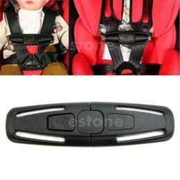 Wholesale Baby Car Seat Safety Straps - Free Shipping Baby Safety Car Seat Strap Child Toddler Chest Harness Clip Safe Buckle Black order<$18no track