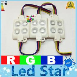 Wholesale Led Pixel Lamps - RGB Led Chip Lights SMD5050 Led Modules 12V Led Pixel IC 4LEDS Waterproof IP65 Led Sign Lamps + CE ROHS UL CSA SAA