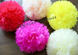 Wholesale 12 Inch Tissue Paper Wholesale - Hot Sale Tissue Paper Pom Poms 50Pcs Blooms Flower Balls Home Wedding Supplies 4 6 8 10 12 14 16 inches Multi Color Options
