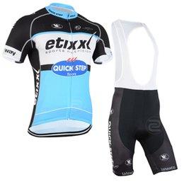 Wholesale Cycling Bib Free Shipping - 2015 Quick Step Cycling Jersey Blue Color Bike Jersey and Bib Shorts  Bib Pants Set Free Shipping Size XS-6XL Quick Dry Bike Clothing