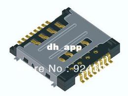 Wholesale Dual Sim Card Reader - Free Shipping 10pcs Dual SIM card reader in one SIM card reader card slot connector