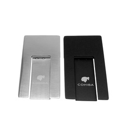 Wholesale Stainless Ashtrays - COHIBA Practical Gadgets Silver High Quality Stainless Steel Foldable Stand Showing Portable Cigar Ashtray Holder For Smoking Use