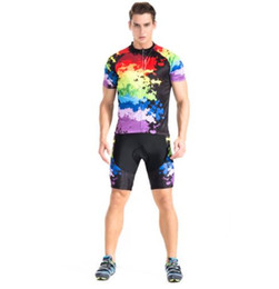 Wholesale Cool Cycling Jerseys Men - Brand New Cool Cycling Jersey Set Short Sleeve Sportswear Polyester Summer Bike Cycling Clothing Ropa Ciclismo
