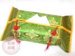 Wholesale Rectangular Cover - Handmade Ethnic Facial Tissue Boxes Cloth Art Patchwork Damask Chinese knot Jade Tassel Rectangular Decoration Serviette Paper Cover