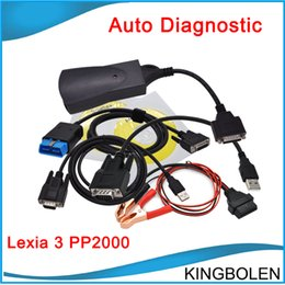 Wholesale Diagnostic Czech - 2017 Newest High Quality for Citroen&Peugeot Diagnostic Tool Lexia 3 V48 Diagbox V7.65 PP2000 V25 Lexia3 in stock Free shipping