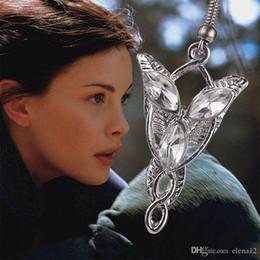 Wholesale Dangle Ear Cuffs - the Lord of The Rings Earring elf princess Arwen Evenstar dangle earrings ear cuff for women statement jewelry movie jewelry new 170253