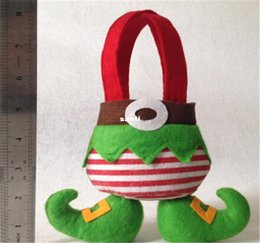 doces do duende bolsas Desconto Elf calças estilo Sacos de Doces Saco de Presente de Natal Xmas Bag for Children Decoração de Natal Suprimentos