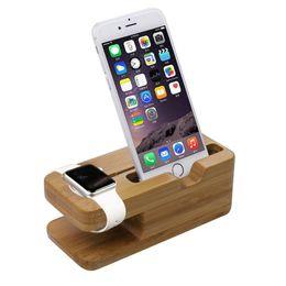 Бесплатная DHL 2015 новейшая зарядная платформа для Apple Watch Stand Station для Apple Watch для iPhone Bamboo Wood держатель сотового телефона стенд от