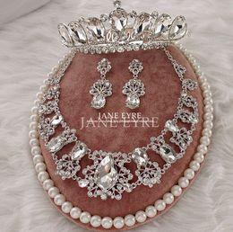 Canada 2015 ensembles de bijoux de mariage en cristal bijoux de mariée trois pièces pas cher Ensembles de bijoux de noce Offre