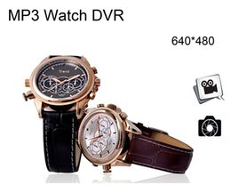 Wholesale High Quality Spy Watch - High quality Ultra-Thin Spy Exquisite Mini Watch DV DVR Digital Video Camcorder Hidden Camera Watch with Built-in 8GB and MP3 player