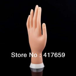 Wholesale Hands Practice Nails - Adjustable Nail Art model Fake Hand for Training and Display painting practice tool Wholesale