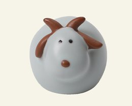 Wholesale Articles For Children - New Mini Ceramic Arts and Crafts, Pretty, Lovely, Fashion Porcelain Lamb Furnishing Article for Home Decor or Holiday Gifts for Children