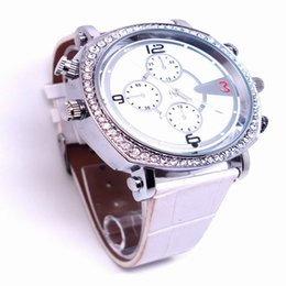 Wholesale Digital Spy Watches - Fashion Diamond Wonan watch CCTV H.264 watch camera Waterproof HD 720P Spy Hidden camera 8GB 16GB Mini Video DVR digital watch