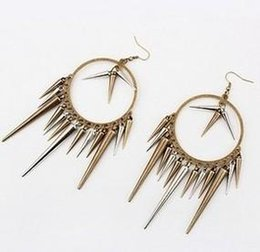Wholesale Mix Match Earrings - RB-090 Fashion Jewelry For Women Punk Style Long Rivets Bronze Chili Mix And Match Earrings