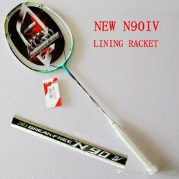 Wholesale Lining Badminton Racquet - The new Lining n90 IV badminton racket racquet racquete full carbon top quality li ning with string and N90-4 racket A5 A5