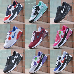 Wholesale big size women - SZSGCN-Big size Eur 36-45!2018 New Mens Sneakers Shoes classic 90 Men and women casual shoes Black Red White Breathable Sports Shoes