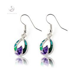 Canada Fashion Tendance pierre bleue et opale bleue Boucles d'oreilles plaqué argent E4100 Recommander Promotion Favori Favori Meilleures ventes Offre