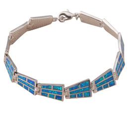 Wholesale 925 Opal Bracelet - Wholesale-Vintage style Bracelets Wholesale & Retail Special Blue fire opal 925 silver fashion jewelry party gifts OB027A