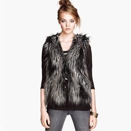 Wholesale Short Gilet - Wholesale-Coat Of Artificial Fur 2016 Fashion New Short Women's Vest Tricolor Fur Gilet Covered Button Women Waistcoat AW0257