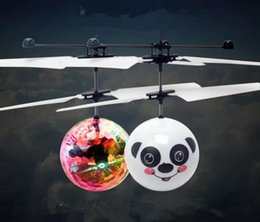 Wholesale Remote Control Flying Ufo - Easy Operation Vehicle Flying RC Flying Ball Infrared Sense Induction Mini Aircraft Flashing Light Remote Control UFO Toys for Kids