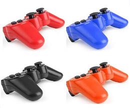 Canada Contrôleur de jeu sans fil Bluetooth pour Dualshock Playstation 3 PS3 Console Jeux vidéo Joystick Gamepad Retail Box Q3 Offre
