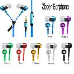 Yüksek Kaliteli Stereo Bas Kulaklık Kulak Metal Fermuar Kulaklık Kulaklıklar için Mic 3.5mm ile iPhone Samsung Xiaomi Lenovo MP3 supplier high bass headphones nereden yüksek bas kulaklıklar tedarikçiler