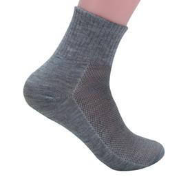 Wholesale Mesh Socks Male - Wholesale- 6 Pairs lot Men Socks Summer Solid Color Mesh Male Short Sock Durable Breathable Anti-static Black Male Sock Calcetines meias