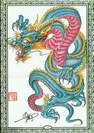 Wholesale Tattoo Flash Dragon Free - Wholesale-PDF Format Tattoo Book 97 page fashion Tattoo colorful dragon skull lion Design Book Tattoo Flash Sketchbook Free Shiping