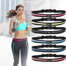 Wholesale Wallet Smartphone - New Women Sport Waterproof Waist Belt Bag Universal Big Storage for iPhone 7 Smartphone Wallet Key 5colors