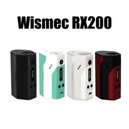 Wholesale Vw Screen - Authentic Wismec Reuleaux TC mod RX200 Mod VW fit three 18650 batteries With OLED Screen black and white colors VS snow wolf 200w free ship