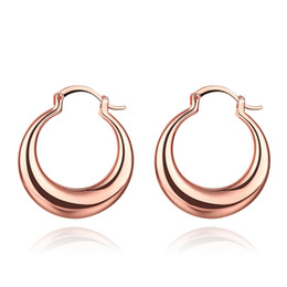 Wholesale Basketball Wives Fashion Jewelry - Wholesale- Moon Styles Earrings Basketball Wives Fashion Jewelry Wholesale Rose Gold Gold Color Large Circle Hoop Earrings For Women Gift