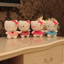 Wholesale Cheap Stuffed Animals Wholesale - Cheap kawaii Hello Kitty Plush toys classic Stuffed Animals kids toys Doll Top Quality cat in fruit dress