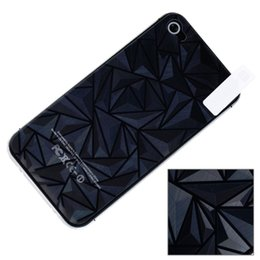 Wholesale Screen Protect For Iphone 4s - 1 PCS Front and Back Screen Protector Film 3D Diamond Full Body Protect for iPhone 4S 4G Wholesale