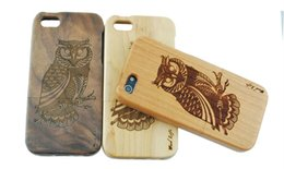 Wholesale Galaxy Note Wood - Natural Bamboo Wood handmade Hand-Carved Wooden Case Cover For iPhone 6s 6s Plus 5S For Samsung Galaxy Note 5 s6 htc m8