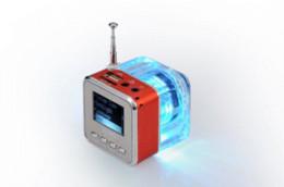 Wholesale Nizhi Light - Subwoofer Speakers 2014 Speakers free Shipping 1pcs Original Nizhi Tt029 Mini Speaker with Fm Flash Light Big Sound Mental Case