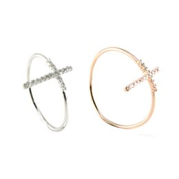 2019 14k gold kreuz ring Überqueren Sie einzigartige Cluster Ringe für Party Best Cluster Ringe Zirkonia Dekoration Vintage Cluster Ringe für R10289 rabatt 14k gold kreuz ring