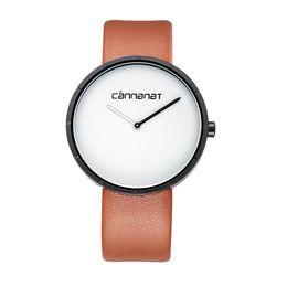 Минималистский дизайн бизнес-стиль высокого качества 3 цвета черный коричневый кожаный ремень кварцевые часы роскошные наручные часы для мужчин от Поставщики кожаный ремень роскошные часы