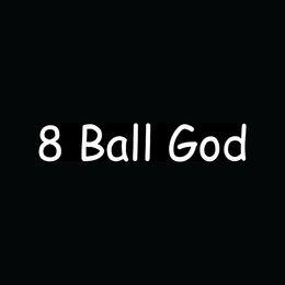 Wholesale Pool Balls Cues - Wholesale Car Stickers 8 Ball God Sticker Funny Vinyl Decal For Car Window Truck Pool Billiards League Break Cue