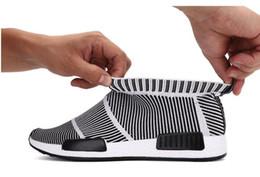 Wholesale Vintage Sport Socks - Discount NMD City Sock Men Women Shoe NMD CS1 City Sock PK (Core Black Vintage White Ftwr White Casual Sports Shoes S79150